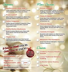 Mambo II 2018 Christmas Day Menu is ready